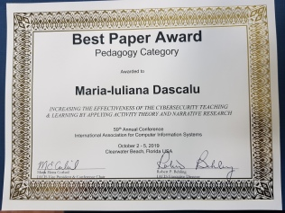 Diploma IACIS 2019 (Maria Dascalu)